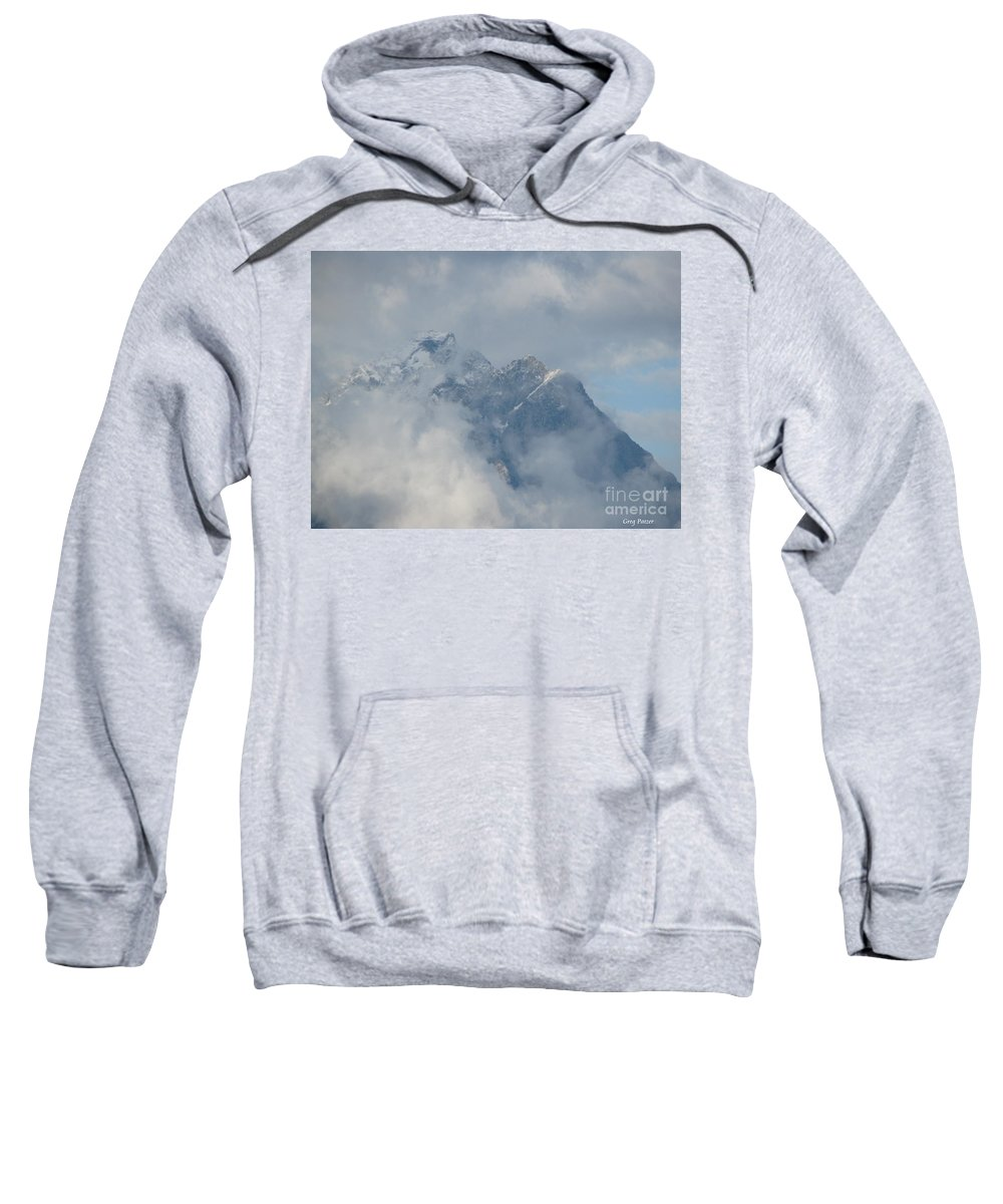 Patzer Sweatshirt featuring the photograph Way Up Here by Greg Patzer