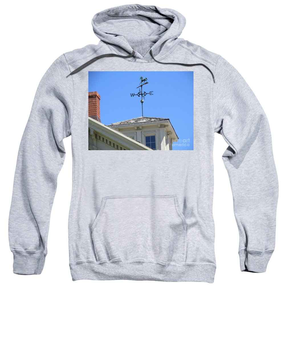 Horse Weather Vane Sweatshirt featuring the photograph Weathervane Horse by Don Baker