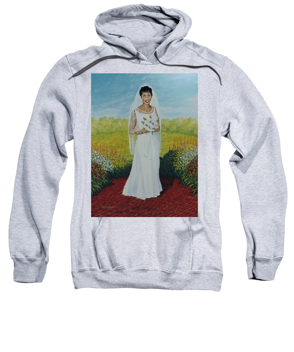 Wedding Sweatshirt featuring the painting Wedding Day by Stacy C Bottoms
