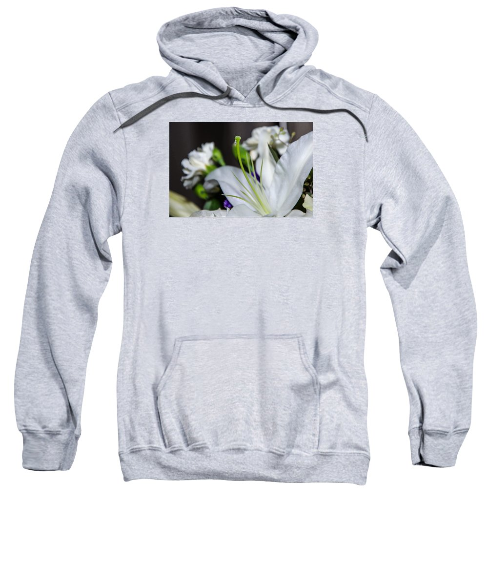 Weeping Lily Sweatshirt featuring the photograph Weeping Lily by Susan McMenamin