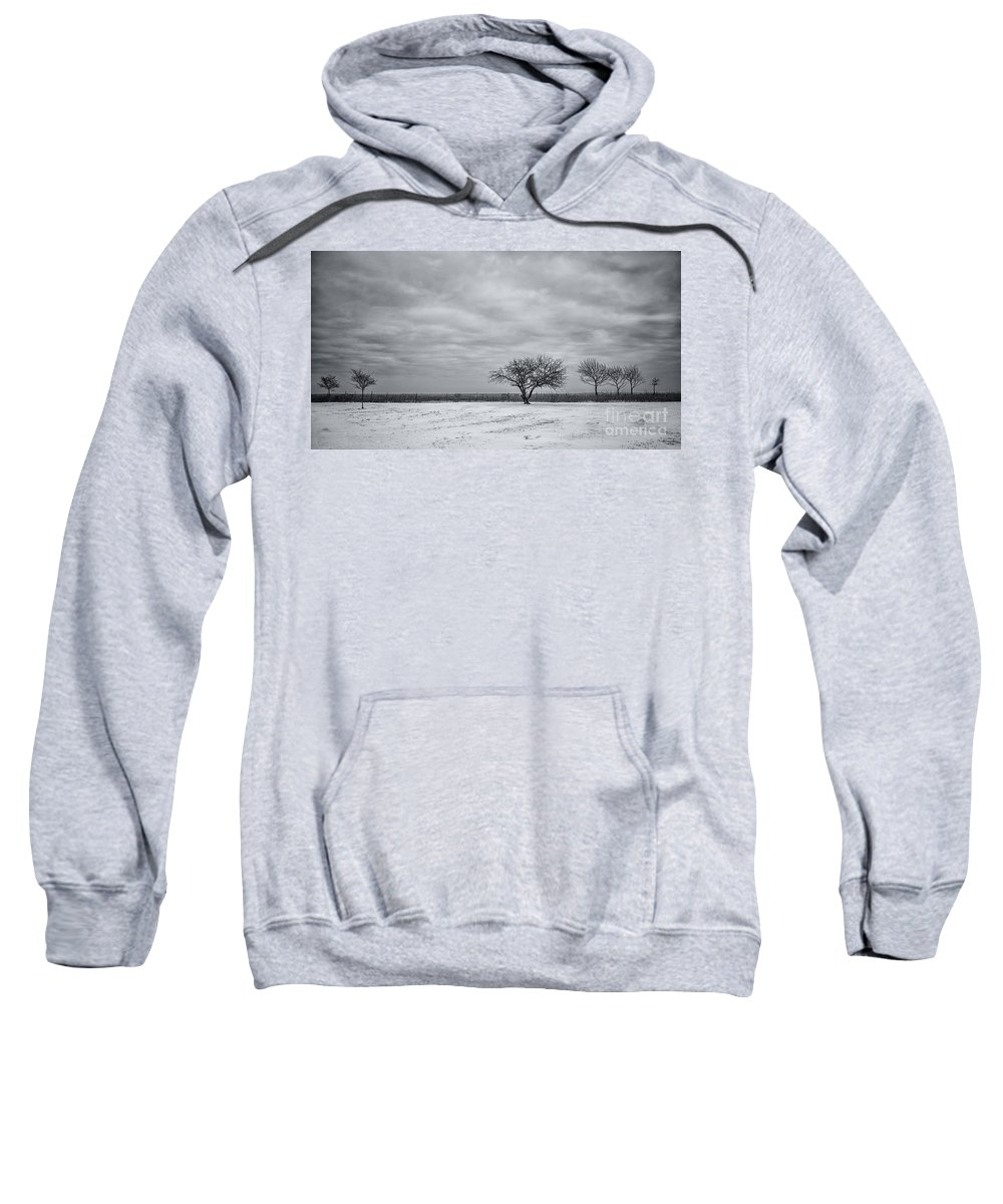 Winter Sweatshirt featuring the photograph Weeping Souls Of Winter Desires by Evelina Kremsdorf