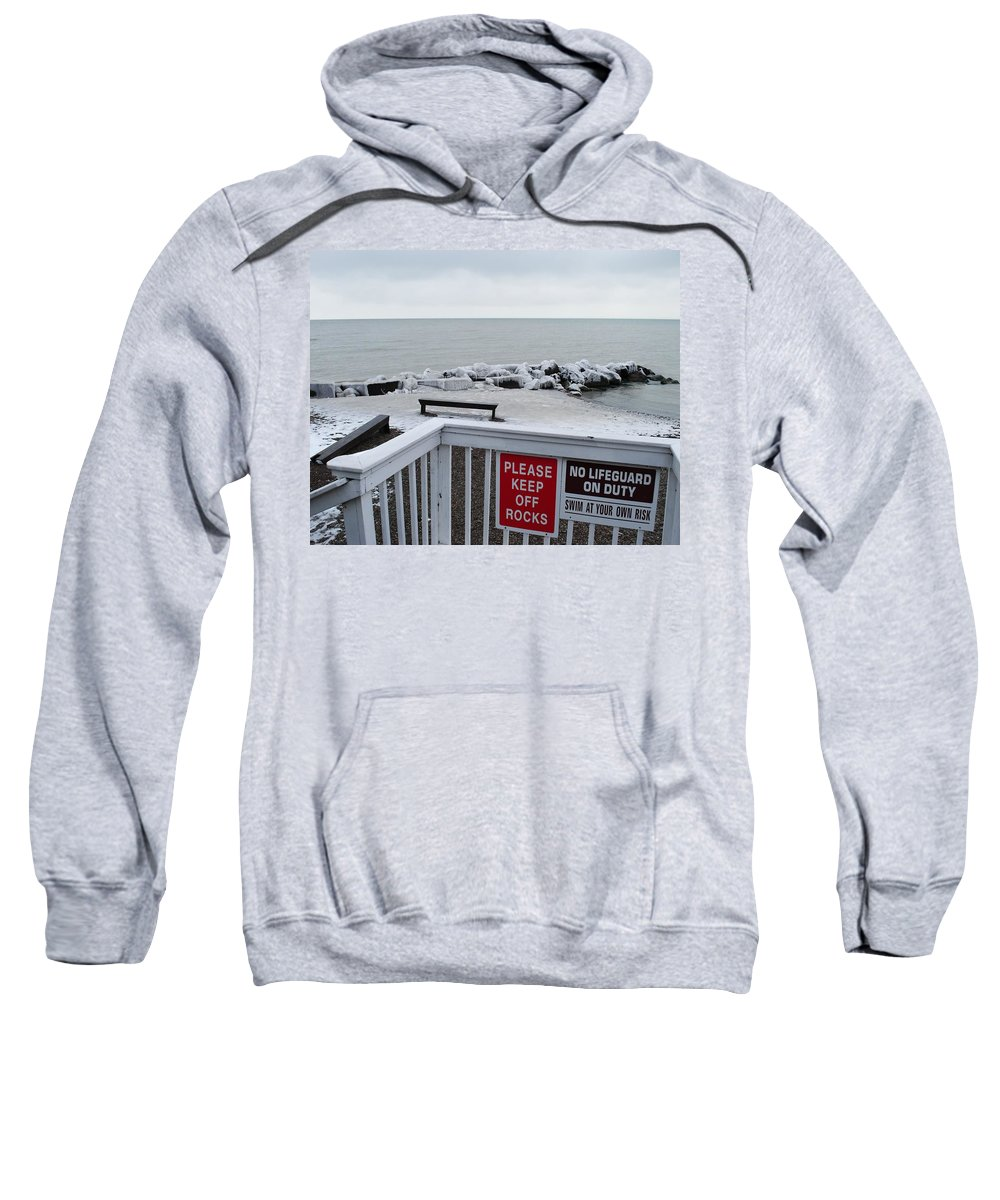 Ice Sweatshirt featuring the photograph Welcome Polar Bear Club by Frozen in Time Fine Art Photography
