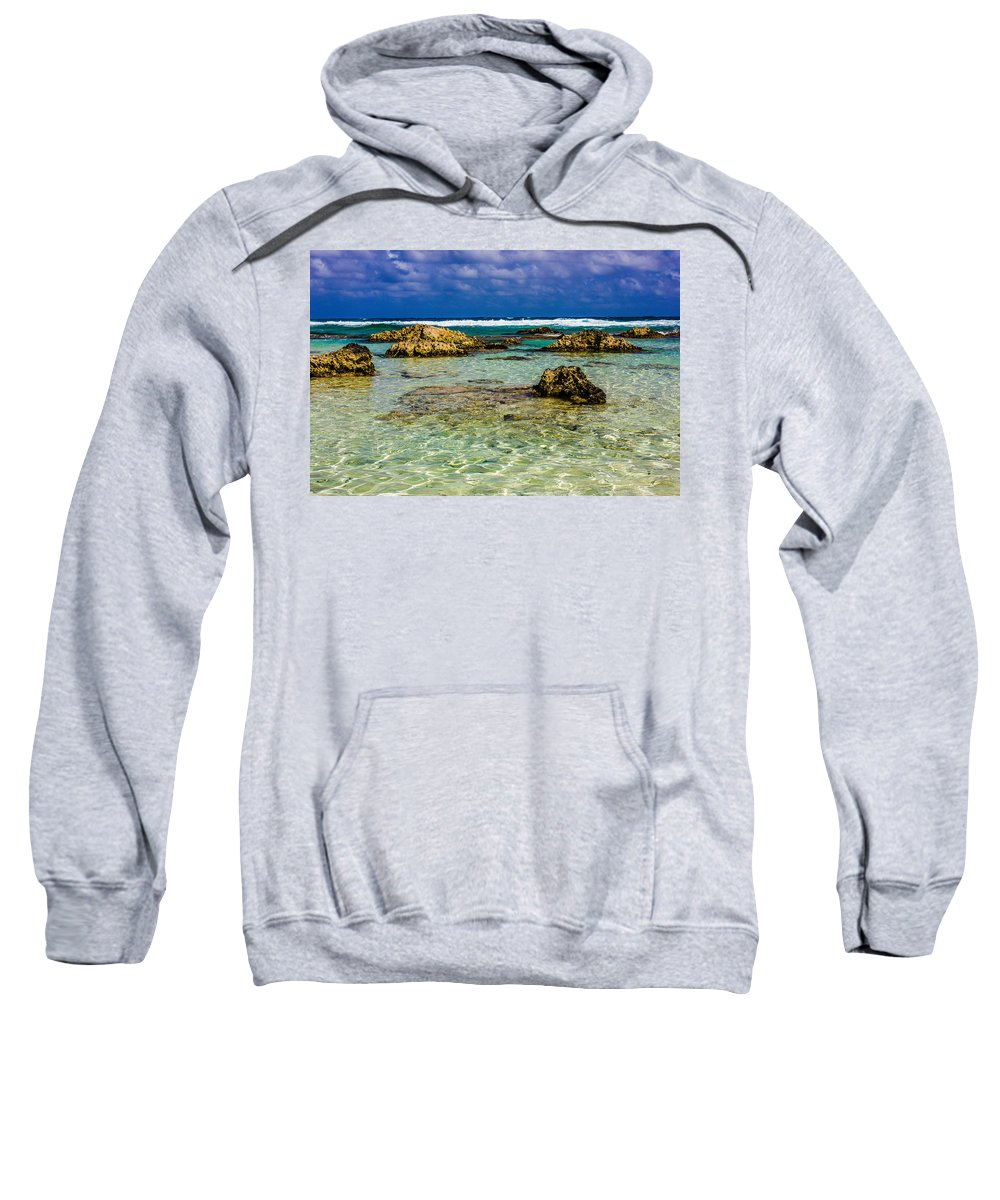 Cozumel Sweatshirt featuring the photograph Welcome To Cozumel by Sara Frank