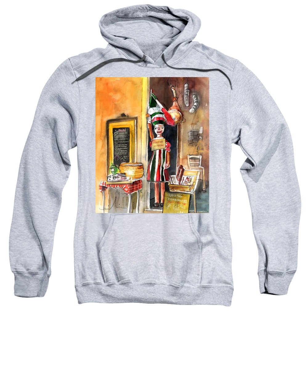Italy Sweatshirt featuring the painting Welcome To Italy 07 by Miki De Goodaboom