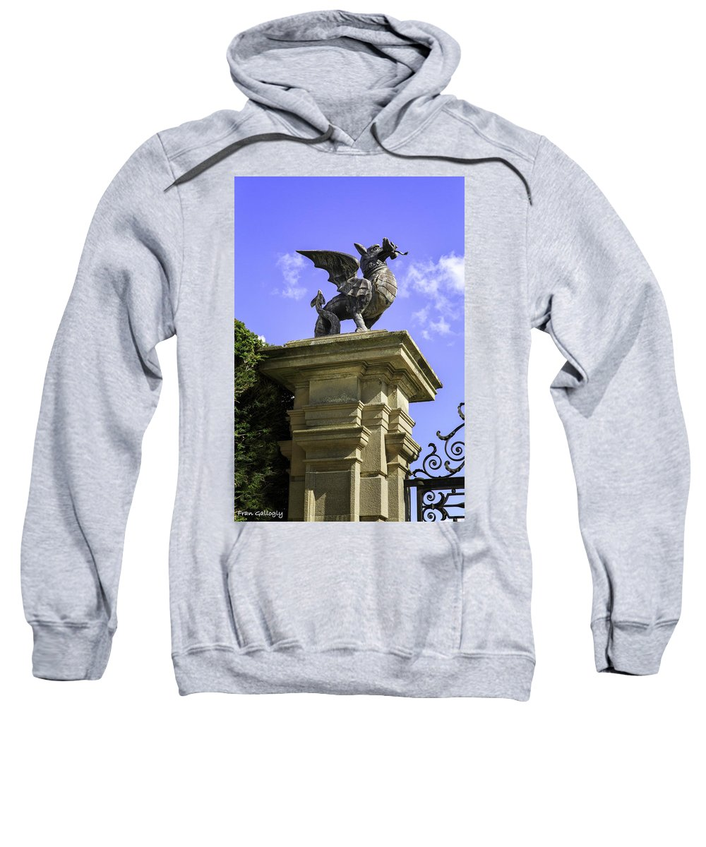 Wale Sweatshirt featuring the photograph Welsh Dragon by Fran Gallogly
