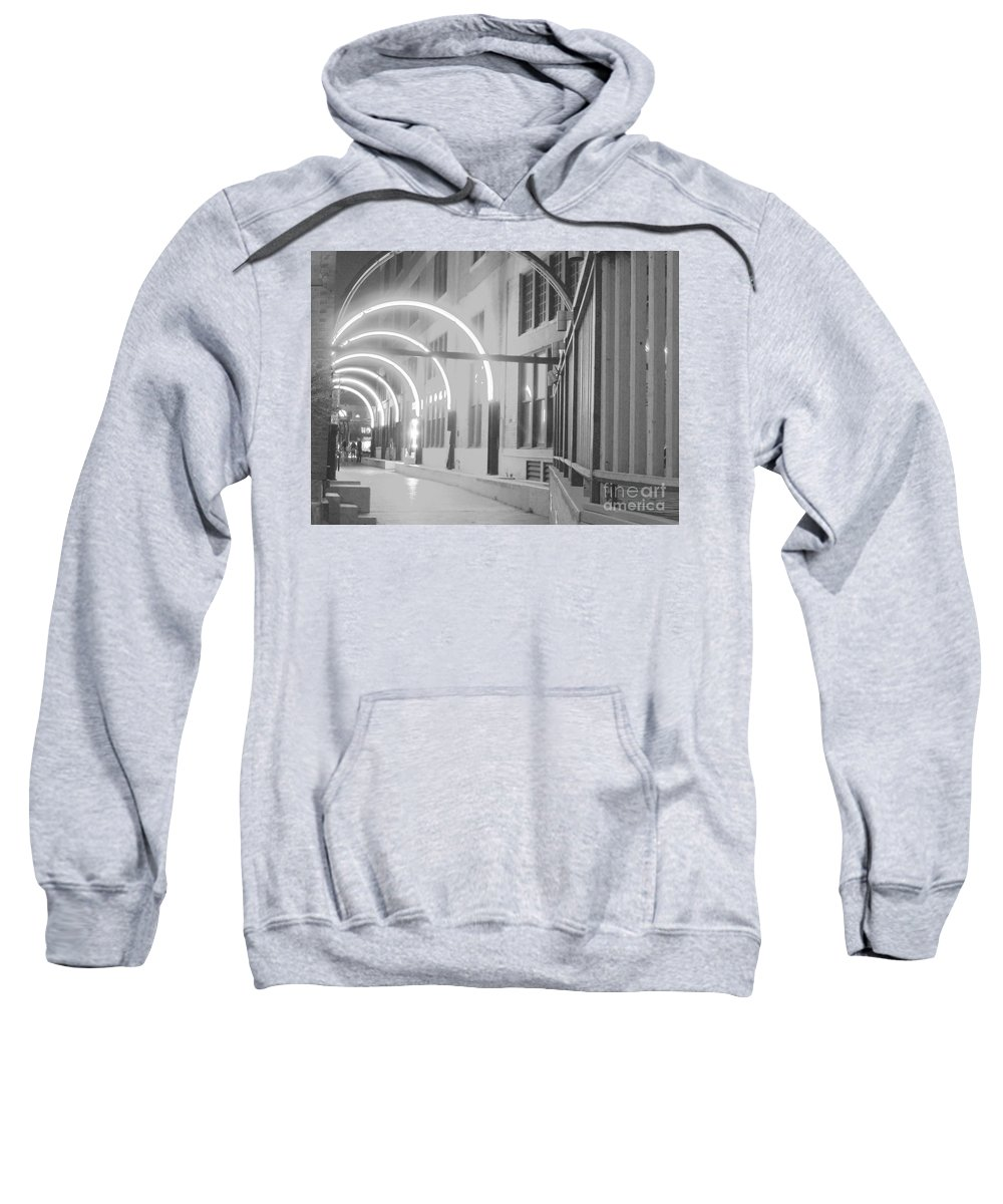 Dallas Scene Sweatshirt featuring the photograph West End Archway Dallas Texas by Pamela Smale Williams