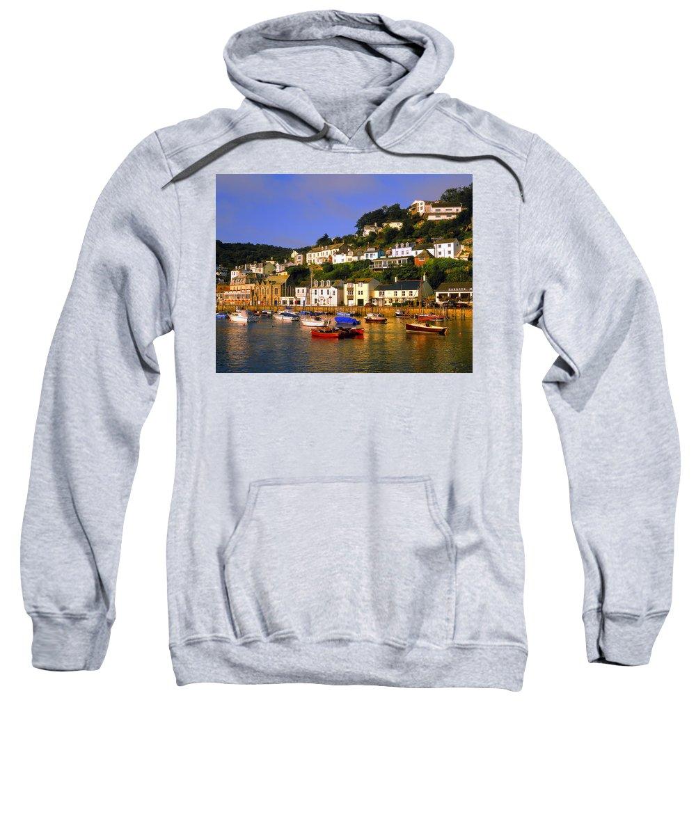 Looe Sweatshirt featuring the photograph West Looe by Darren Galpin