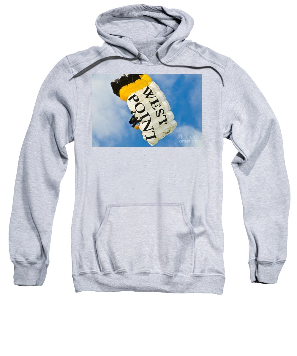 wet Point Sweatshirt featuring the photograph West Point Sky Diver by Anthony Sacco
