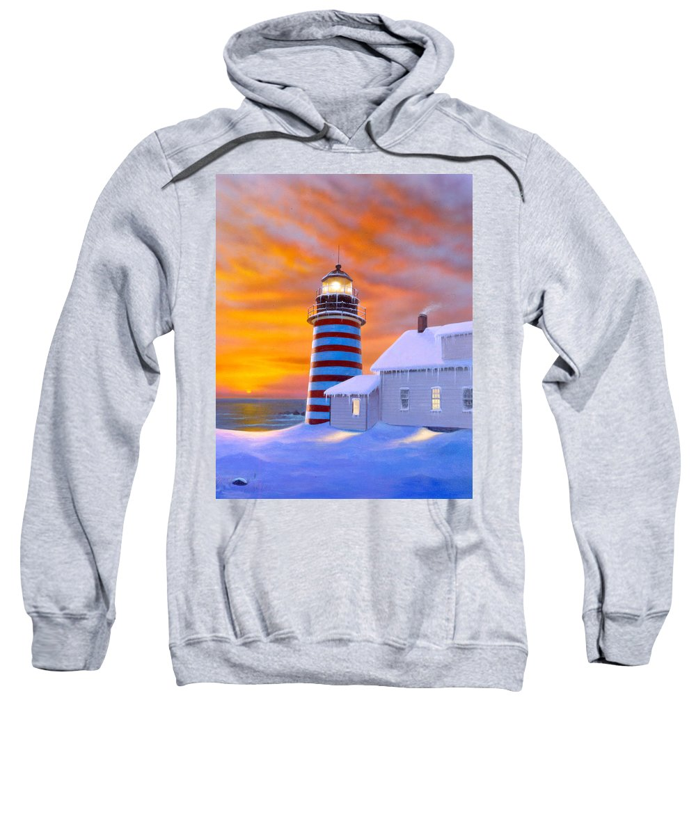 Architecture Sweatshirt featuring the photograph West Quoddy by MGL Studio - Chris Hiett