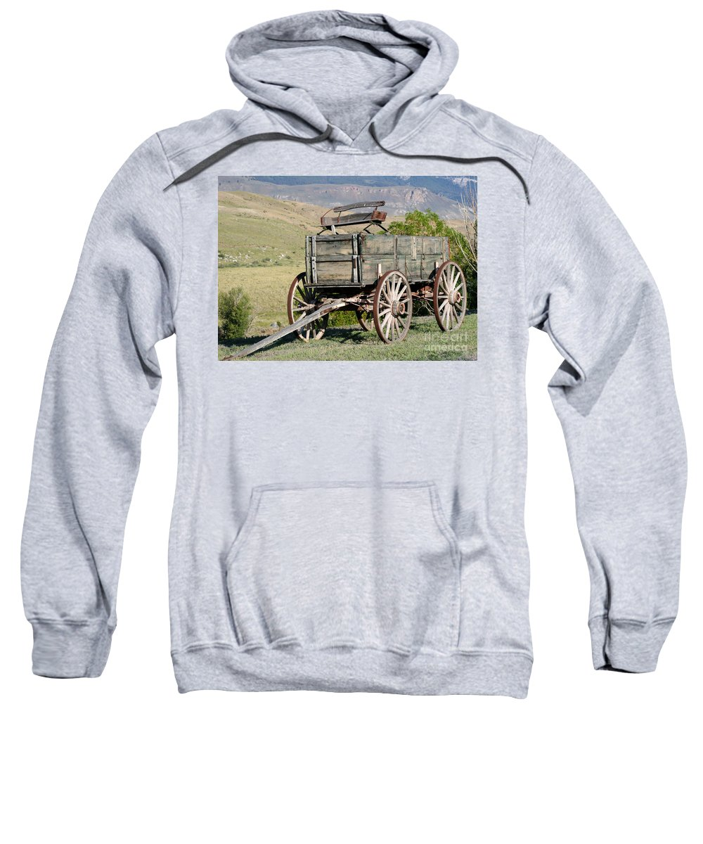 Landscape Sweatshirt featuring the photograph Western Wagon by Sabrina L Ryan