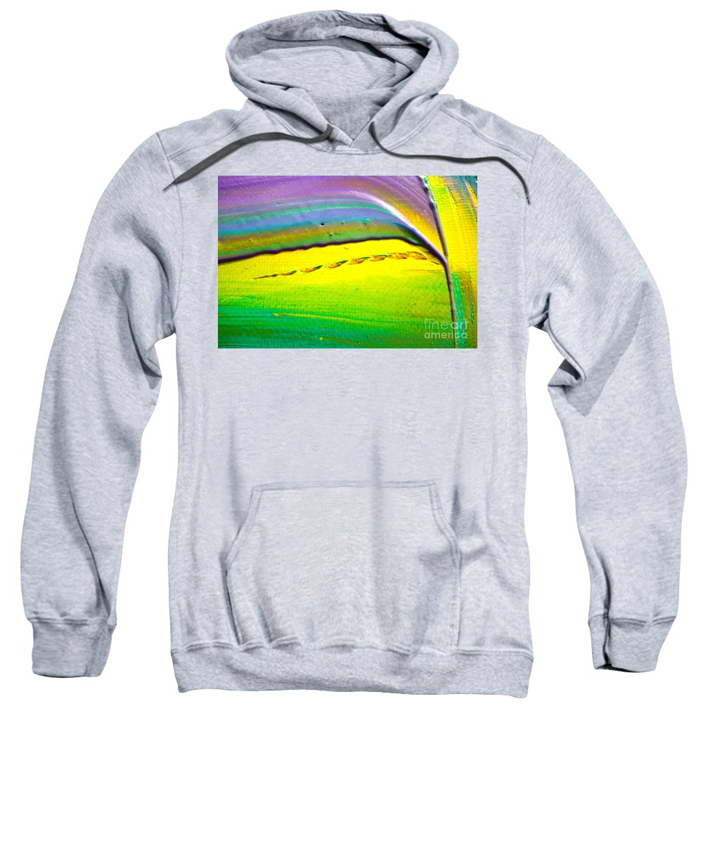 Sweatshirt featuring the painting Wet Paint 2 by Jacqueline Athmann