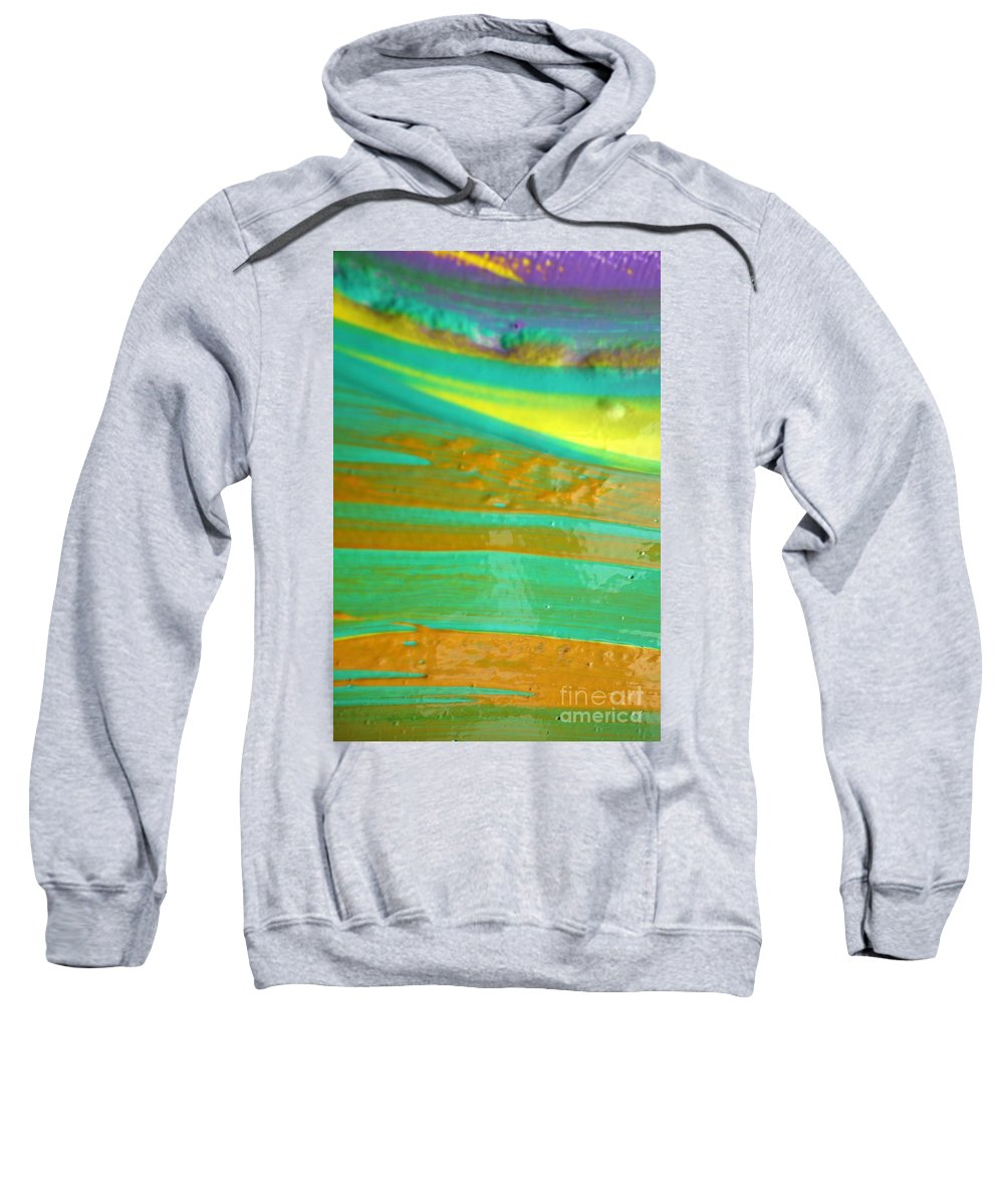 Paint Sweatshirt featuring the painting Wet Paint 9 by Jacqueline Athmann