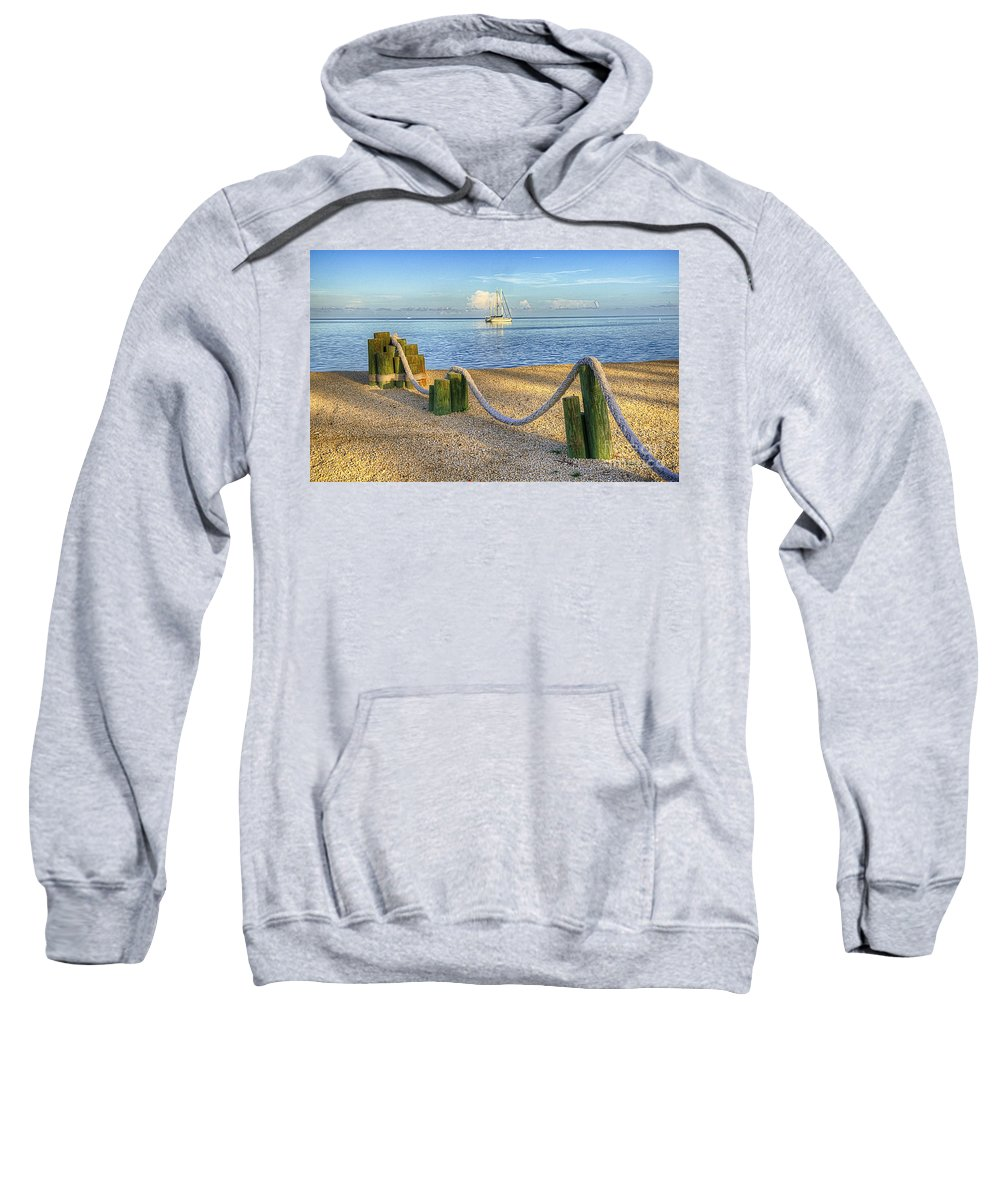 Water Sweatshirt featuring the photograph Whale Harbor by Bruce Bain