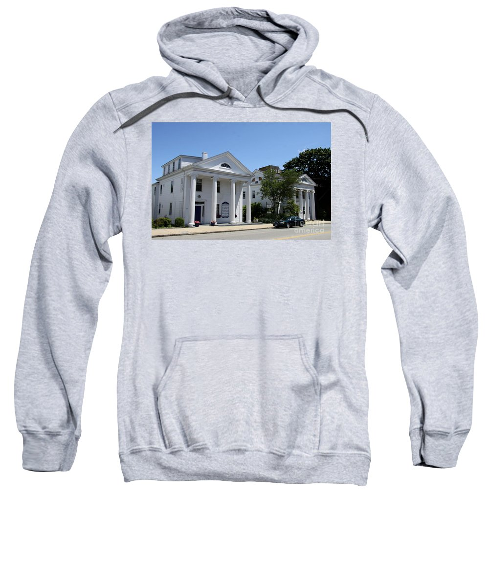 New London Sweatshirt featuring the photograph Whale Oil Row - New London by Christiane Schulze Art And Photography