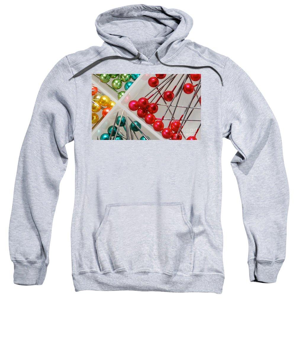 Pin Sweatshirt featuring the digital art What A Buncha Pinheads by Margie Chapman