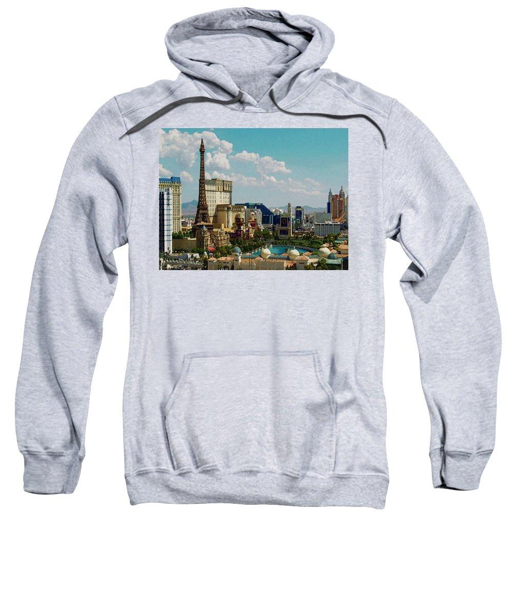 Digital Sweatshirt featuring the digital art What Happens by David Hansen