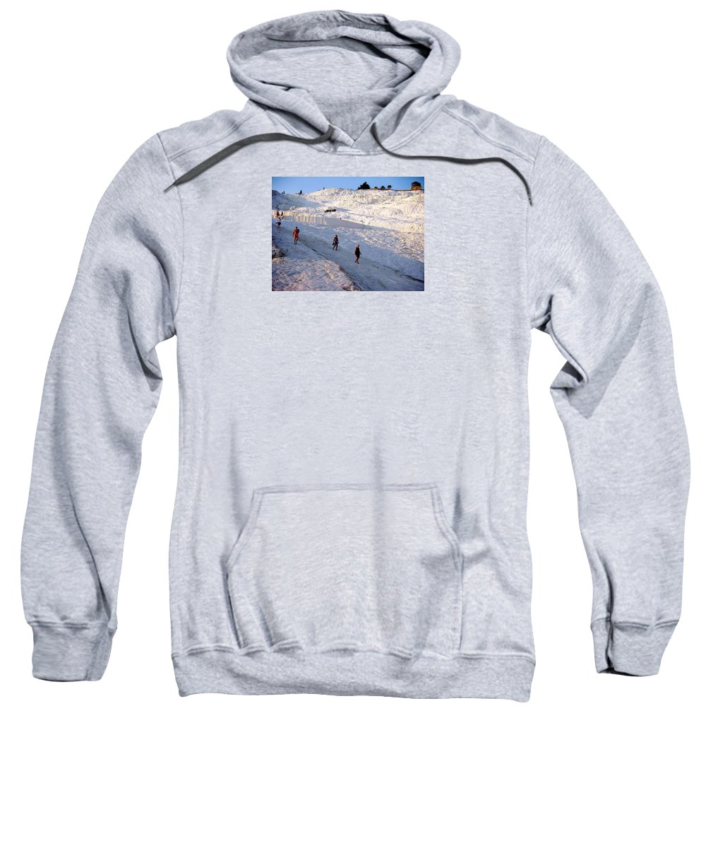 Pamukkale Sweatshirt featuring the photograph What Is Wrong In This Picture by Zafer Gurel