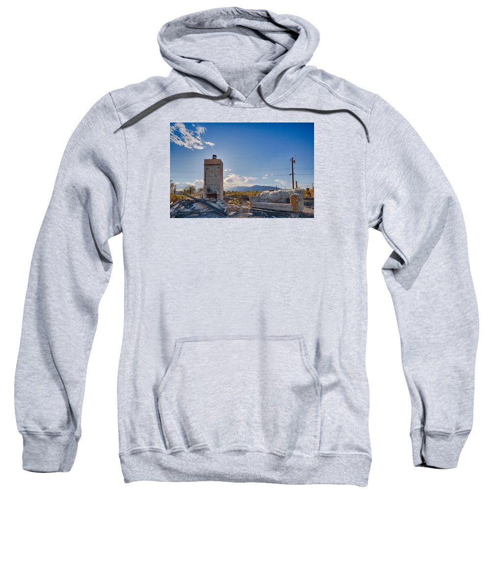 Burnt House Sweatshirt featuring the photograph What Once Was by Scott Campbell
