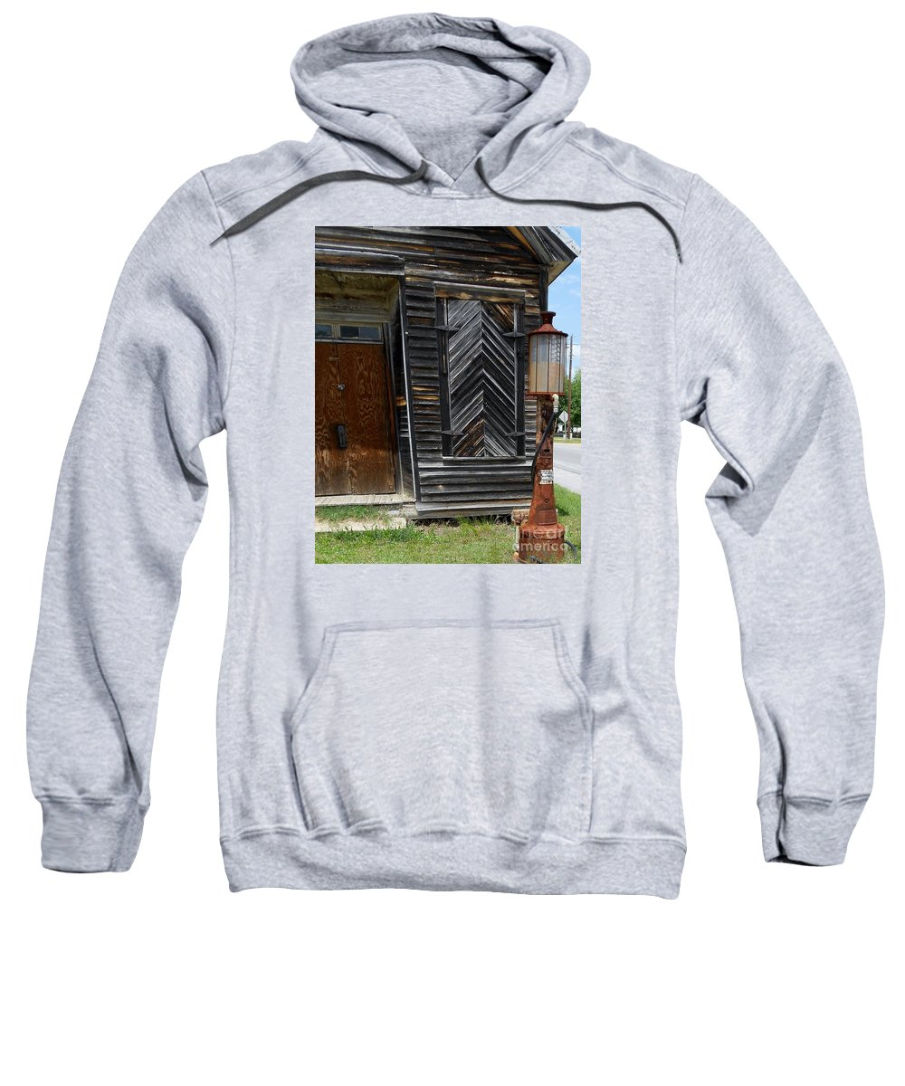 Gas Sweatshirt featuring the photograph When Gas Was 18 Cents A Gallon by Eloise Schneider Mote