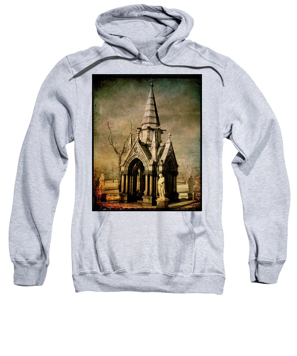 Angels Sweatshirt featuring the digital art Where Angels Meet by Gothicrow Images