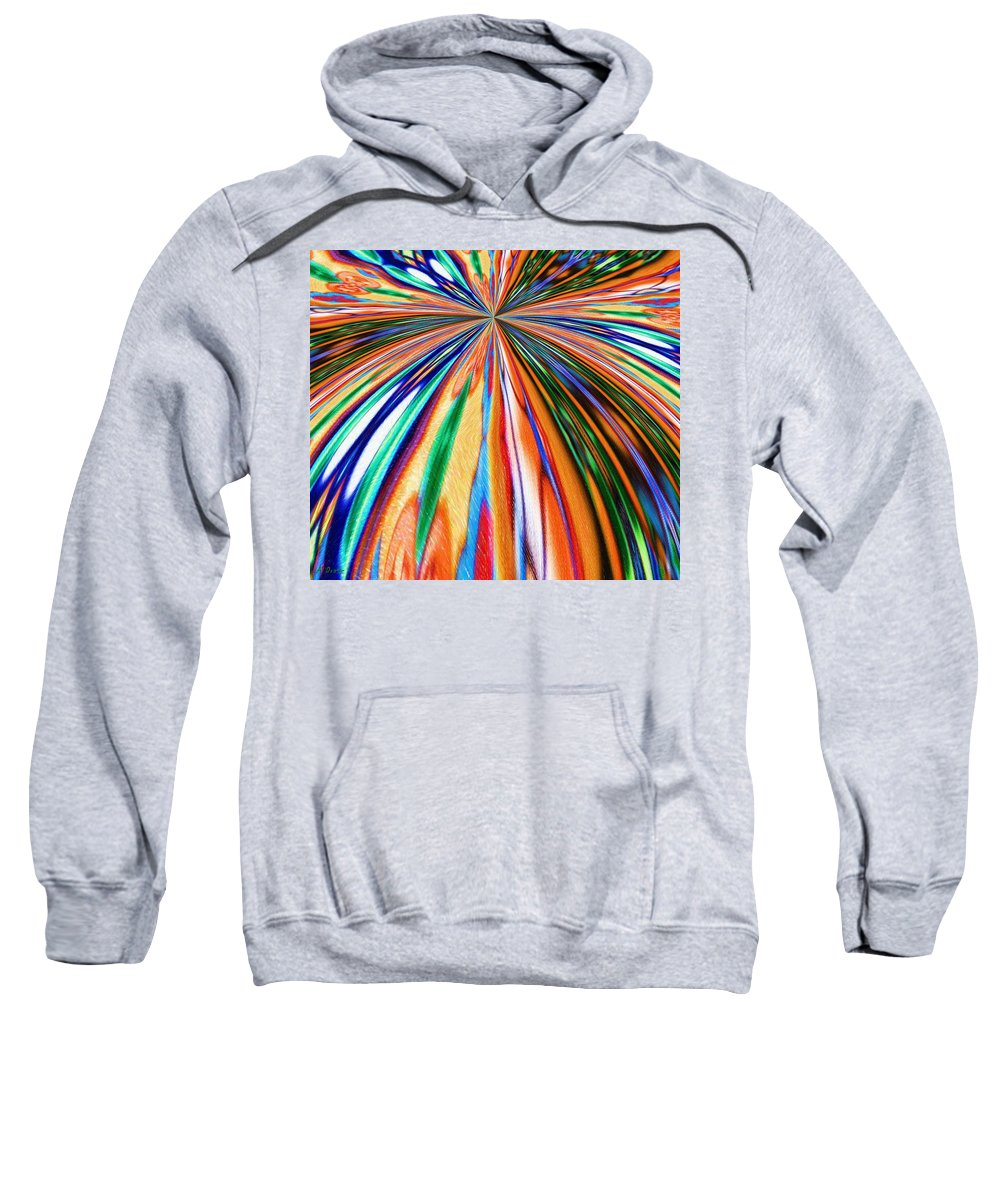 Begin Sweatshirt featuring the digital art Where It All Began Abstract by Alec Drake