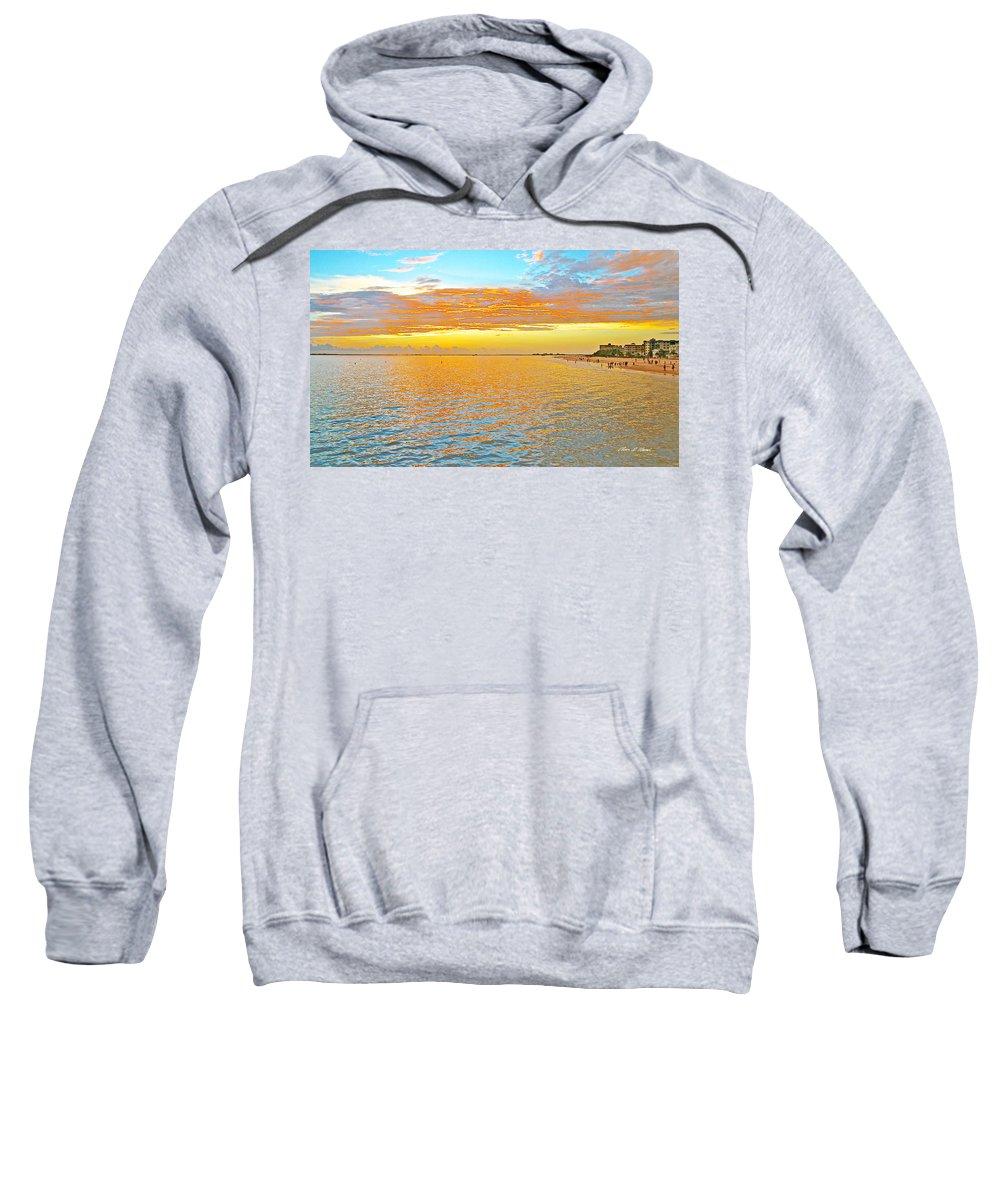 Sunset Sweatshirt featuring the photograph Where Orange Touches Orange by Olivia Novak