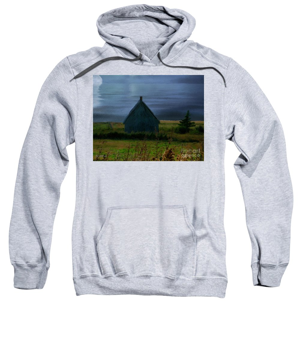 Moon Sweatshirt featuring the painting Where The Moon Meets The Water by RC DeWinter