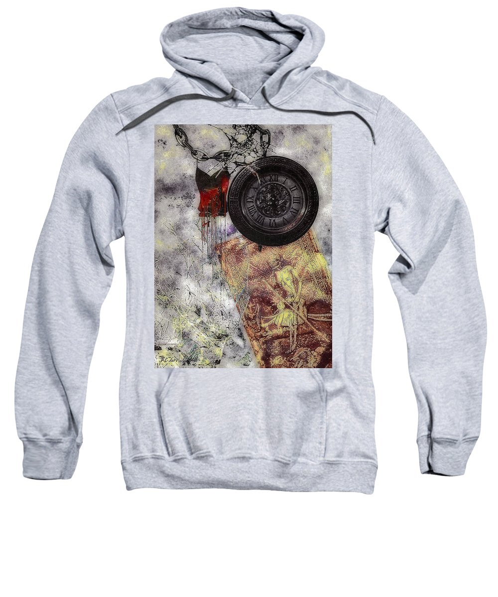 Nightmare Sweatshirt featuring the painting While You Were Sleeping by RC DeWinter