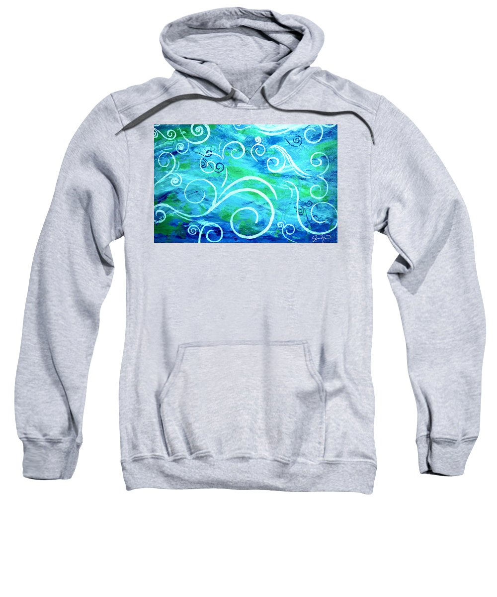 Swirls Sweatshirt featuring the painting Whimsical II by Jan Marvin