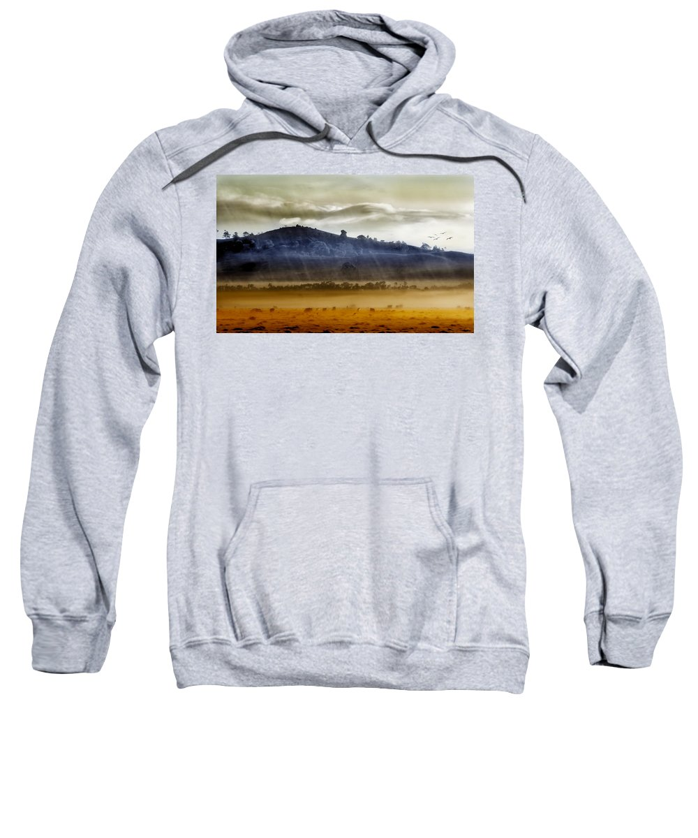 Landscapes Sweatshirt featuring the photograph Whisps Of Velvet Rains... by Holly Kempe