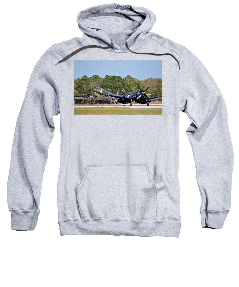 Chance Sweatshirt featuring the photograph Whistling Death And Tico Belle by Matt Abrams
