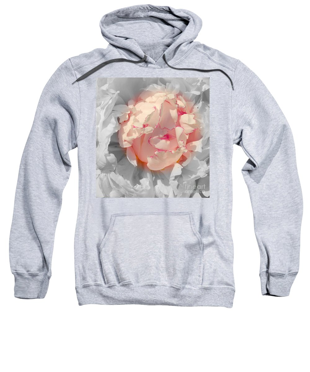 Peony Sweatshirt featuring the photograph White And Pink Lace by Kathleen Struckle