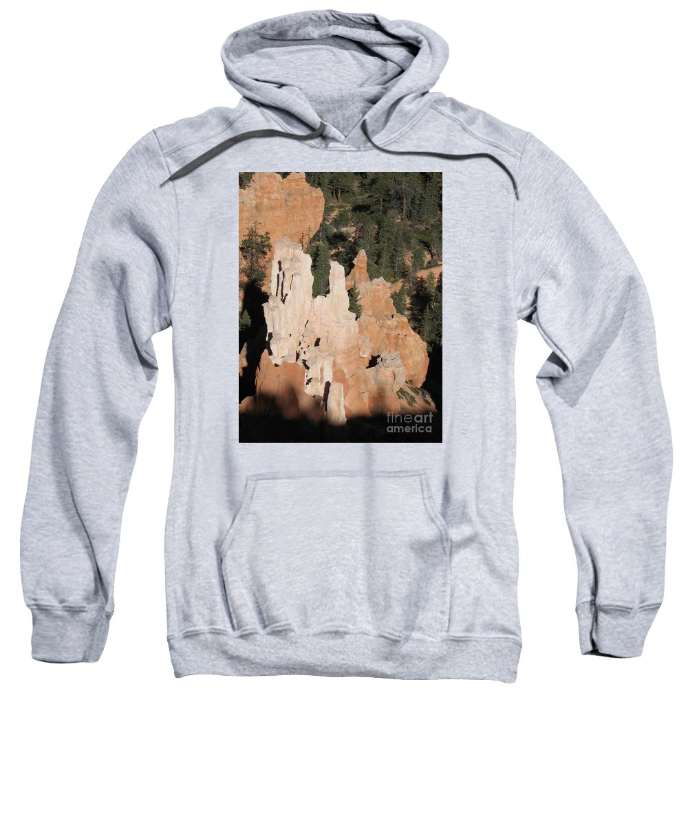 Rocks Sweatshirt featuring the photograph White And Red Rocks Of Bryce Np by Christiane Schulze Art And Photography