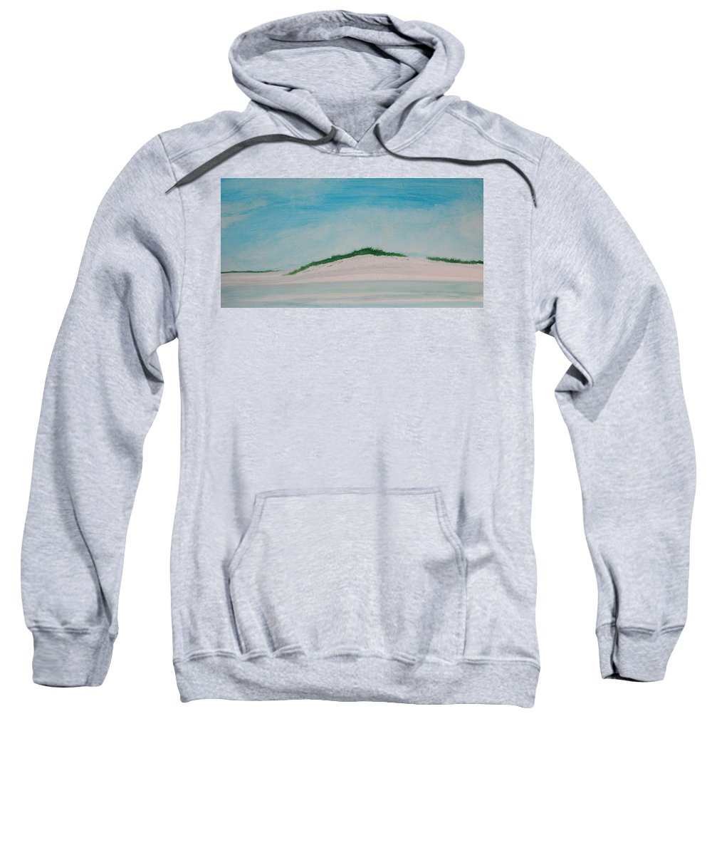 Beach Sweatshirt featuring the painting White Dunes by Rhodes Rumsey