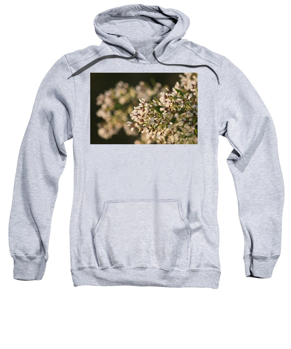White Sweatshirt featuring the photograph White Flowers by Nadine Rippelmeyer