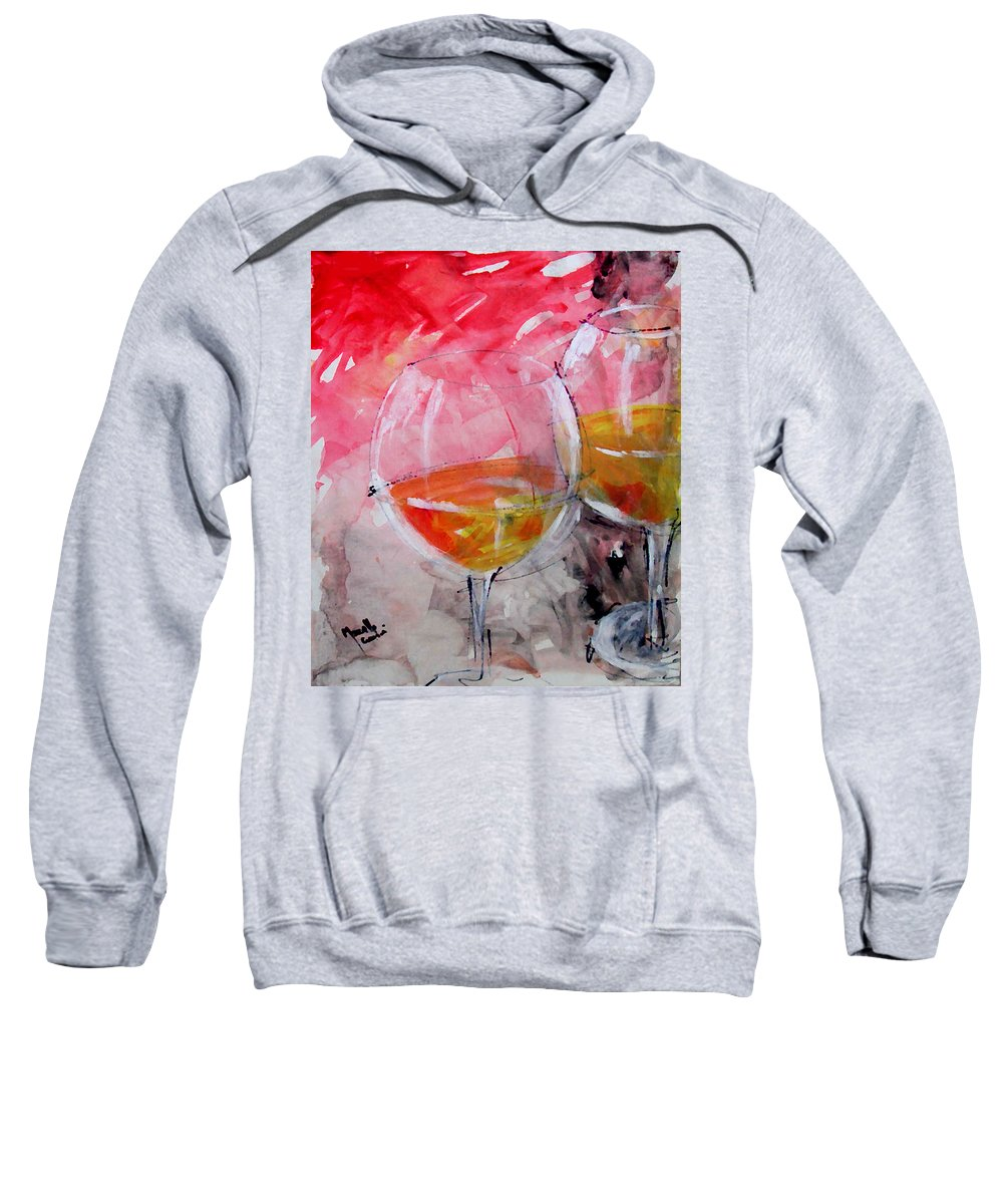 Gold Sweatshirt featuring the painting White by Marcello Cicchini