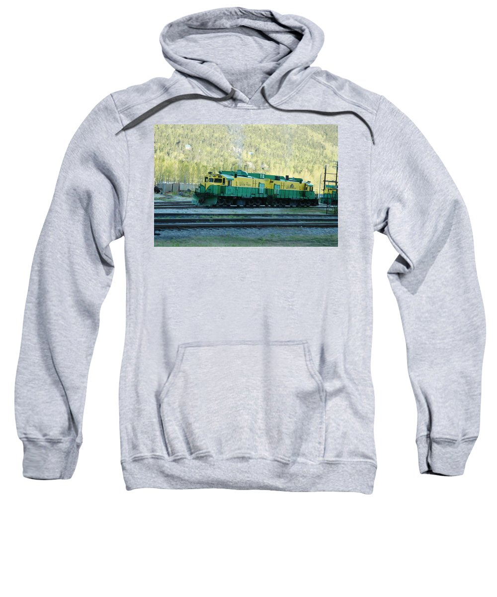 Train Sweatshirt featuring the photograph White Pass Railroad 2 by Tracy Winter