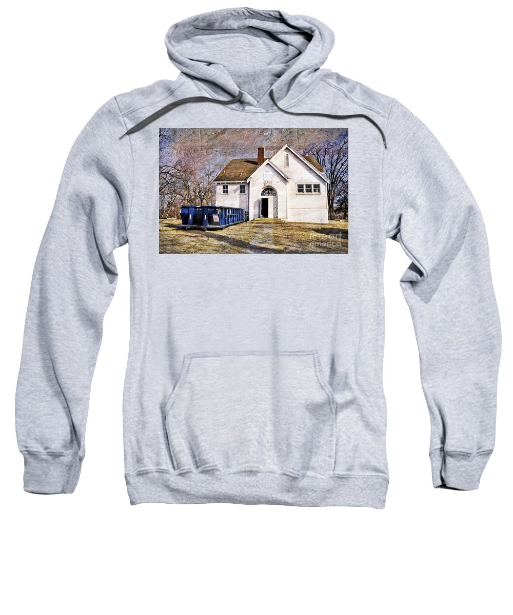 White School 1929 Sweatshirt featuring the photograph White School 1929 - Lawrence Kansas by Liane Wright
