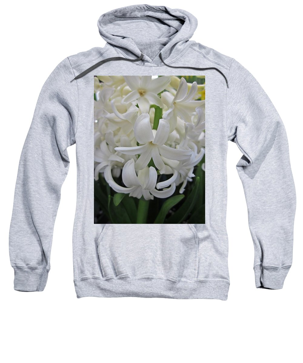 Hyacinth Sweatshirt featuring the photograph Whte Hyacinth by MTBobbins Photography
