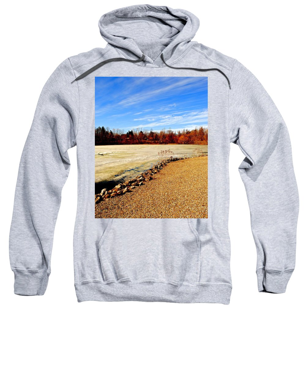Sky Sweatshirt featuring the photograph Wild Blue Yonder by Frozen in Time Fine Art Photography