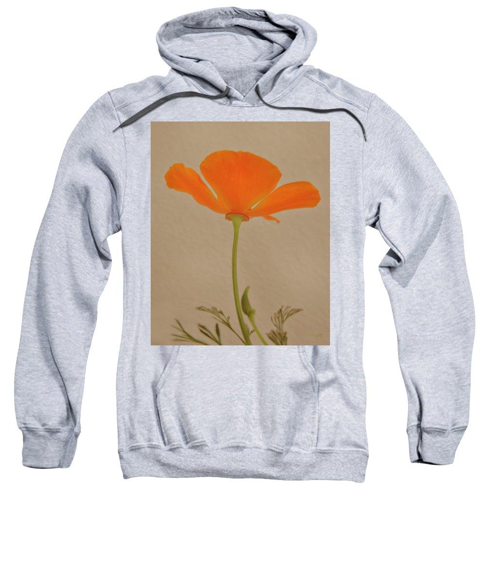 Orange Poppy Sweatshirt featuring the photograph Wild California Poppy No 2 by Ben and Raisa Gertsberg