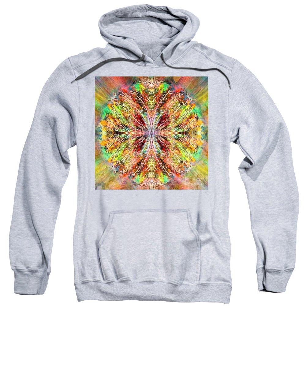 Autumn Sweatshirt featuring the digital art Wildwood by Neil Finnemore