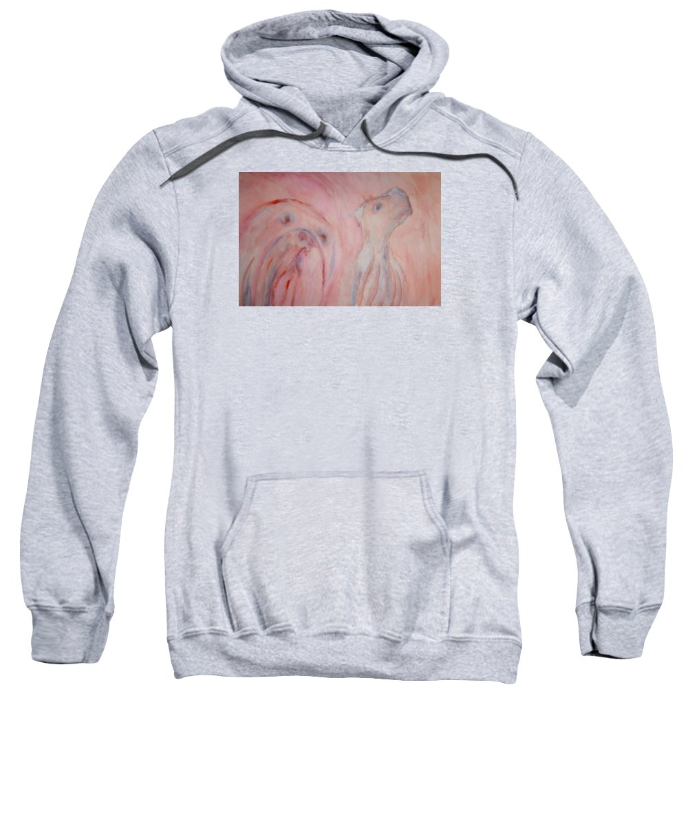 Dog Sweatshirt featuring the painting Will You Ever Understand Or Should I Rather Go Away And Look For Someone Else To Tell My Story To by Hilde Widerberg