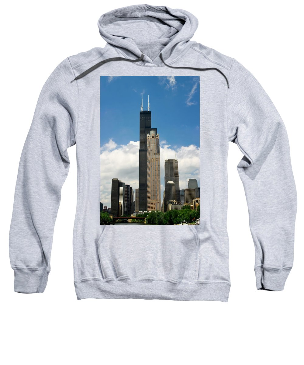 3scape Sweatshirt featuring the photograph Willis Tower Aka Sears Tower by Adam Romanowicz