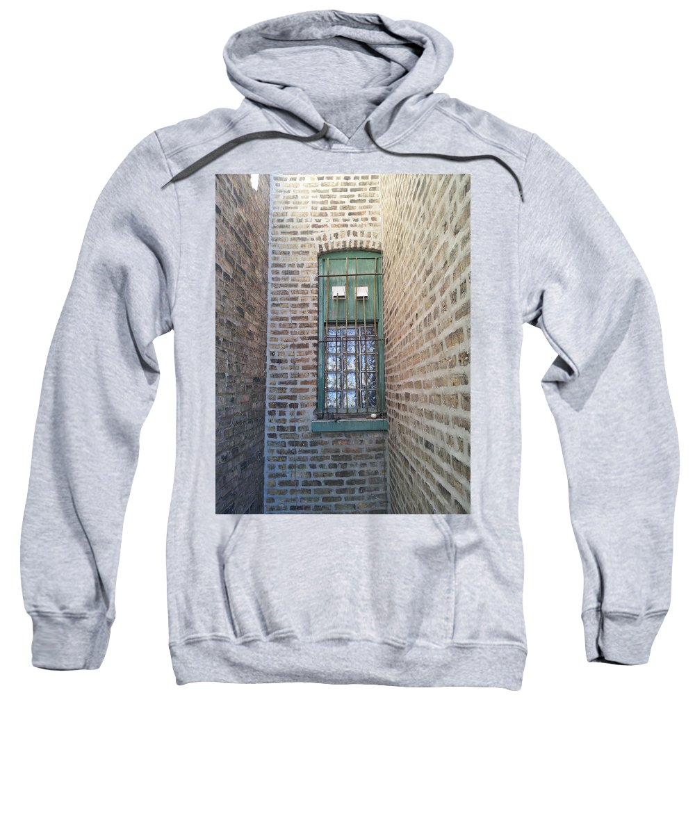 Street Art Sweatshirt featuring the photograph Window Against The Wall by Zac AlleyWalker Lowing