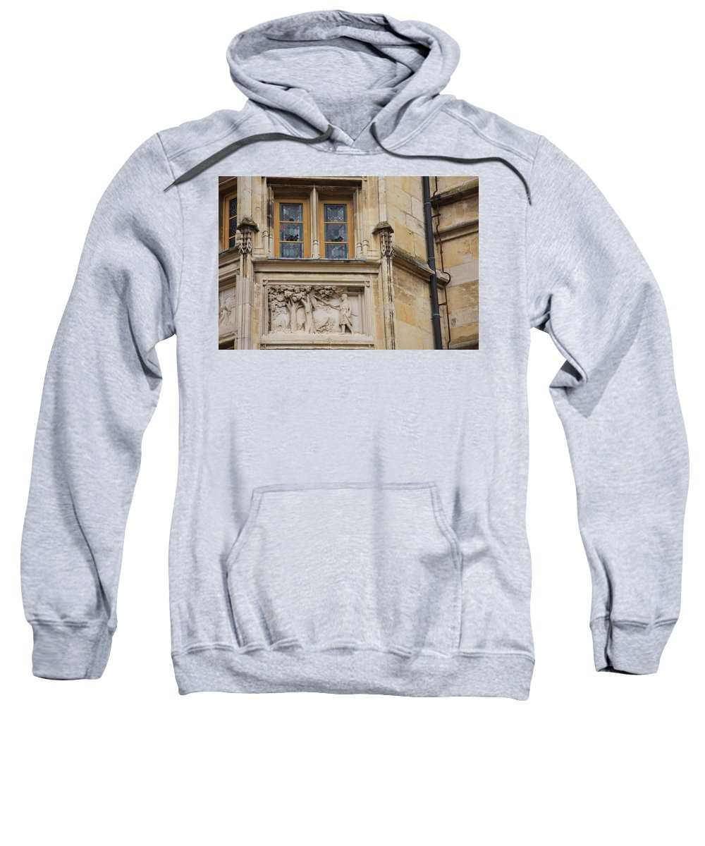 Window Sweatshirt featuring the photograph Window And Relief Palace Ducal by Christiane Schulze Art And Photography