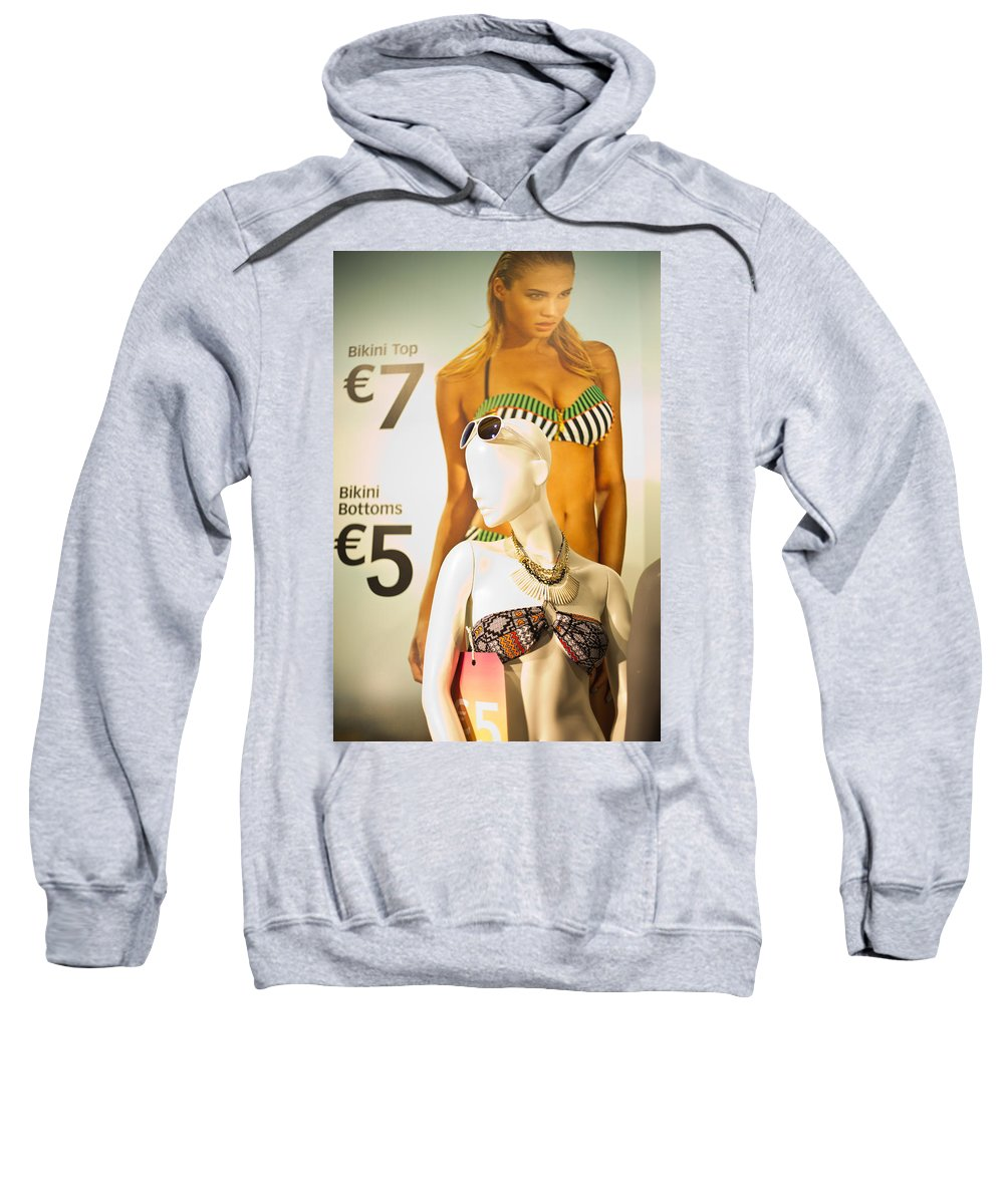Window Sweatshirt featuring the painting Window Mannequin 6 by Alex Art and Photo