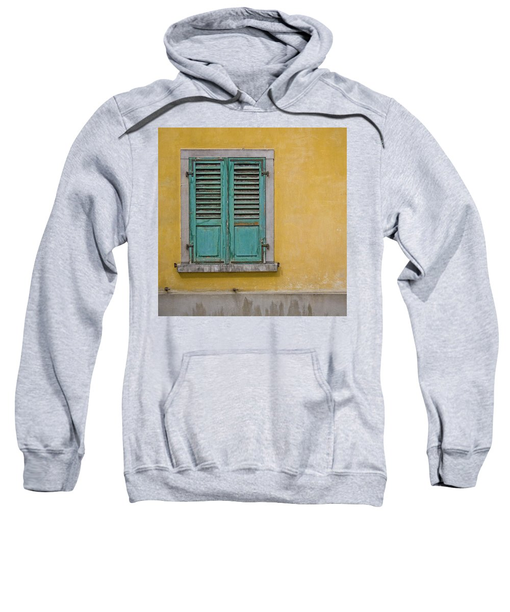 Window Sweatshirt featuring the photograph Window Shutter by Heiko Koehrer-Wagner