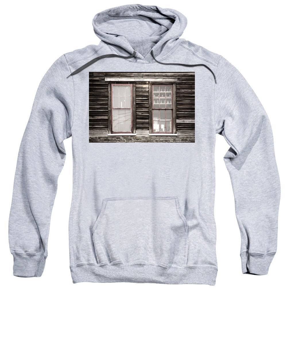 Windows To Valentown Sweatshirt featuring the photograph Windows To Valentown by Tracy Winter