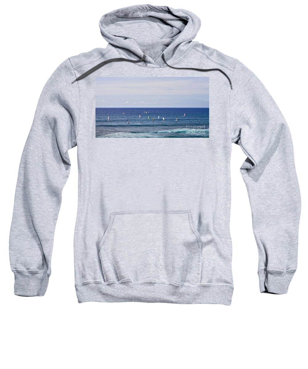 Surfing Sweatshirt featuring the photograph Windsurfing by Andrea Goodrich